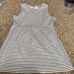 J.Crew black and white striped dress size xl